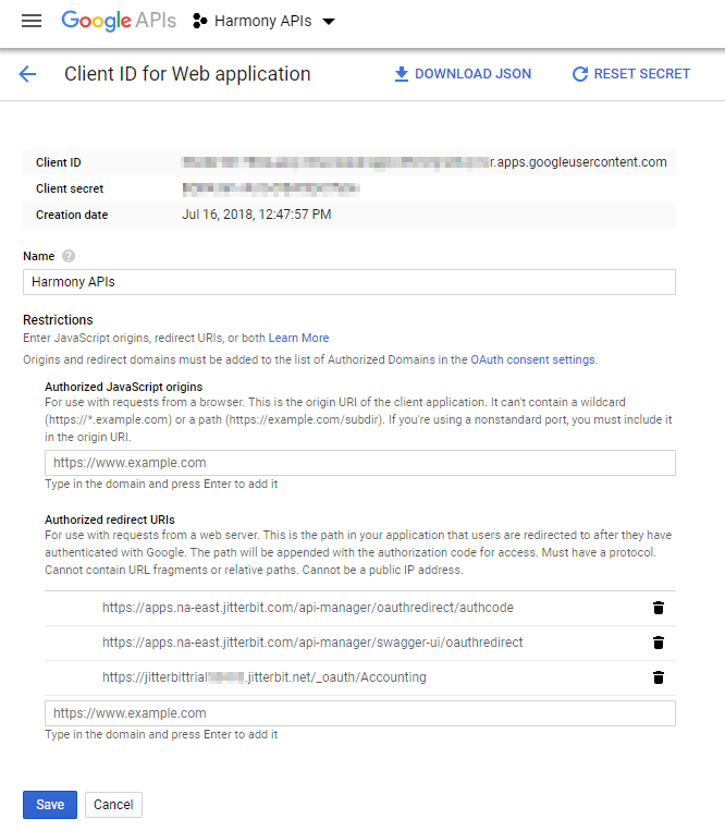 Configuring OAuth 2 0 with Google - Jitterbit Success
