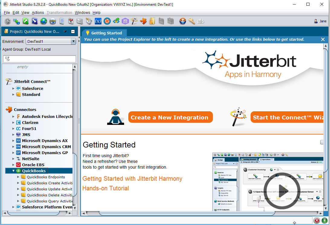 QuickBooks Connector OAuth 2 0 - Create Endpoint - Jitterbit