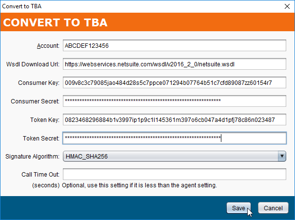 Using NetSuite TBA in the NetSuite Connector - Jitterbit