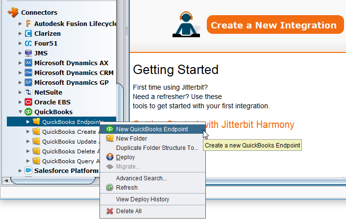 QuickBooks Connector OAuth 1 0a - Create Endpoint