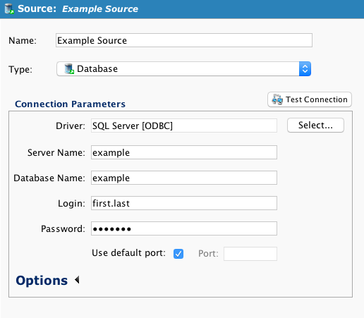 Converting a Database Source or Target to Use a JDBC Driver