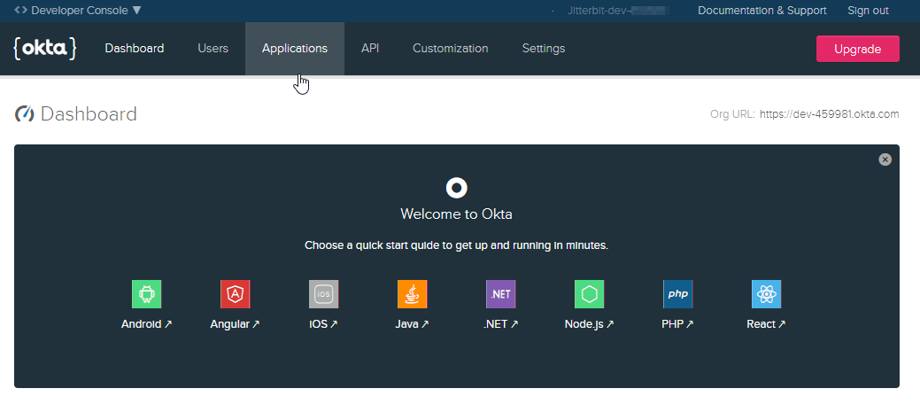 Configuring OAuth 2 0 with Okta - Jitterbit Success Central